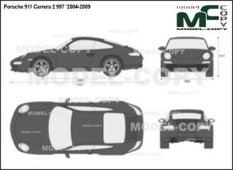 Porsche 911 Carrera 2 997 '2004-2009 - 2D drawing (blueprints)