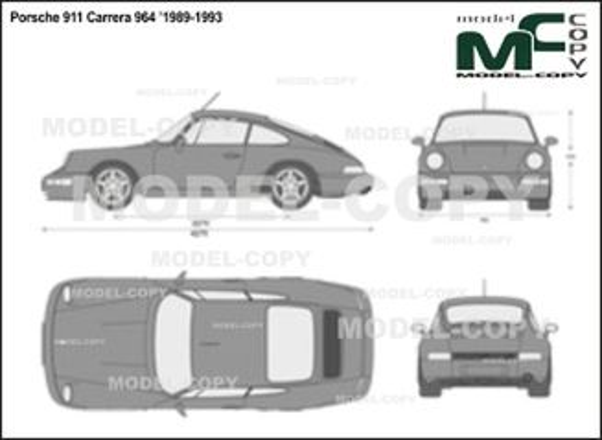 Porsche 911 Carrera 964 '1989-1993 - 2D drawing (blueprints)