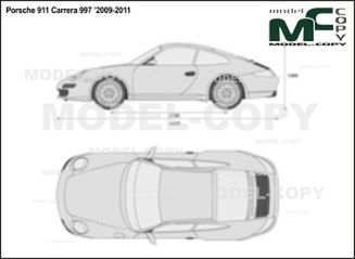 Porsche 911 Carrera 997 '2009-2011 - 2D drawing (blueprints)