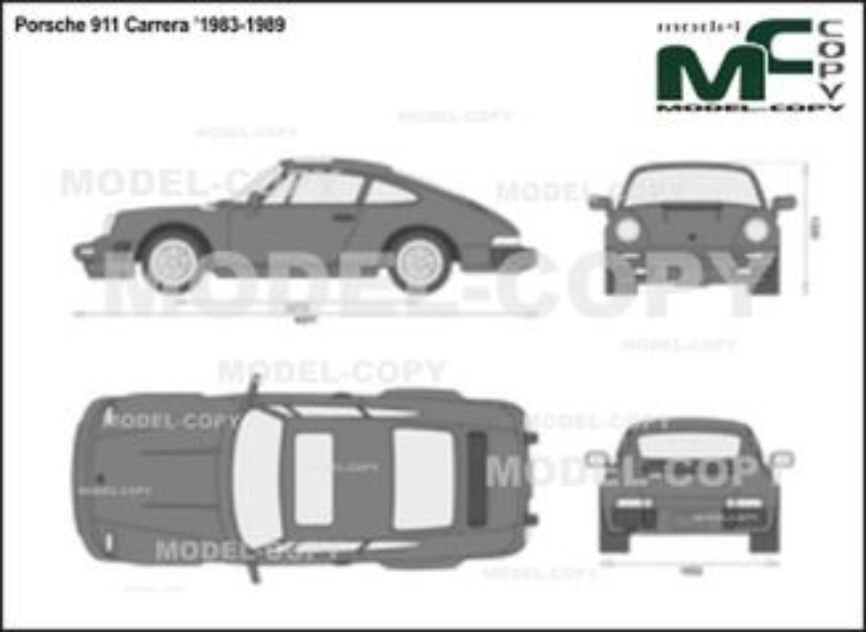Porsche 911 Carrera '1983-1989 - 2D drawing (blueprints)