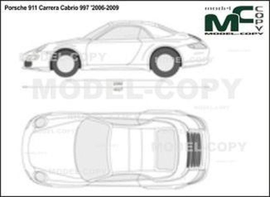 Porsche 911 Carrera Cabrio 997 '2006-2009 - 2D drawing (blueprints)