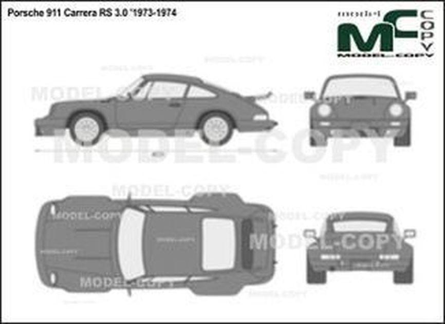 Porsche 911 Carrera RS 3.0 '1973-1974 - 2D drawing (blueprints)