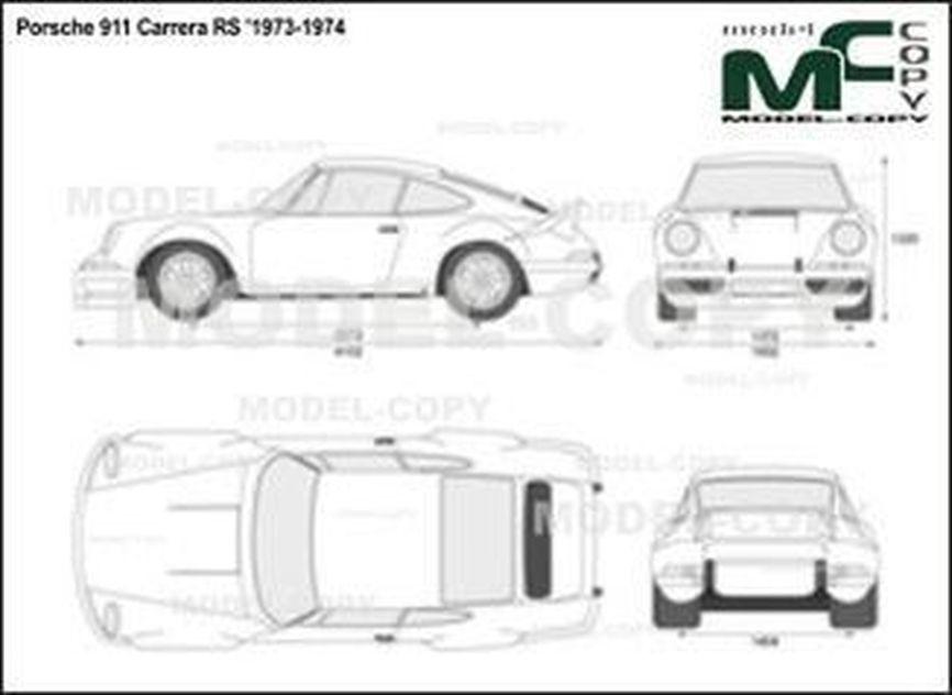 Porsche 911 Carrera RS '1973-1974 - 2D drawing (blueprints)