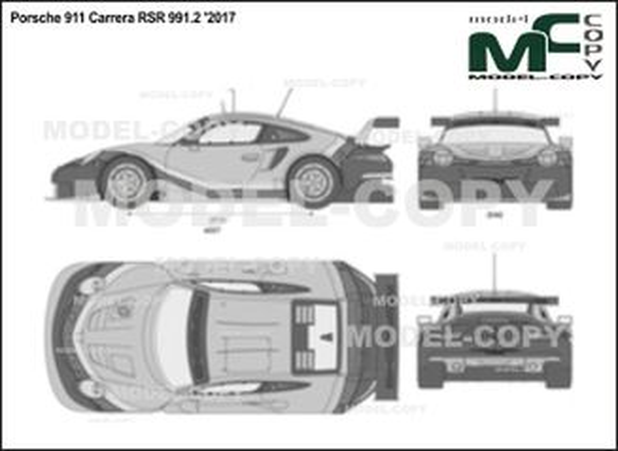 Porsche 911 Carrera RSR 991.2 '2017 - 2D図面