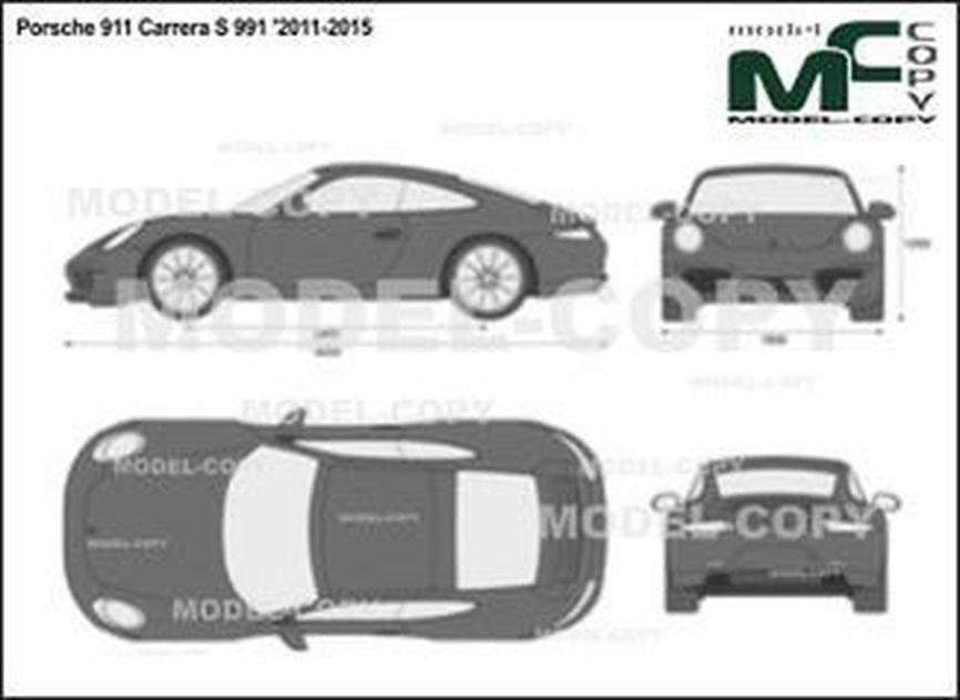 Porsche 911 Carrera S 991 '2011-2015 - 2D図面