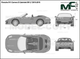 Porsche 911 Carrera S Cabriolet 991.2 '2015-2019 - 2D drawing (blueprints)