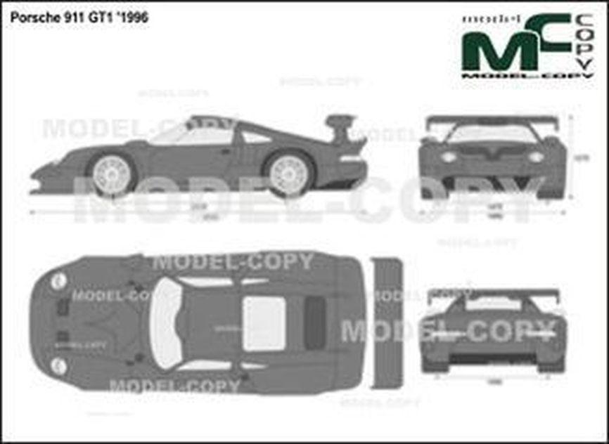 Porsche 911 GT1 '1996 - 2D drawing (blueprints)