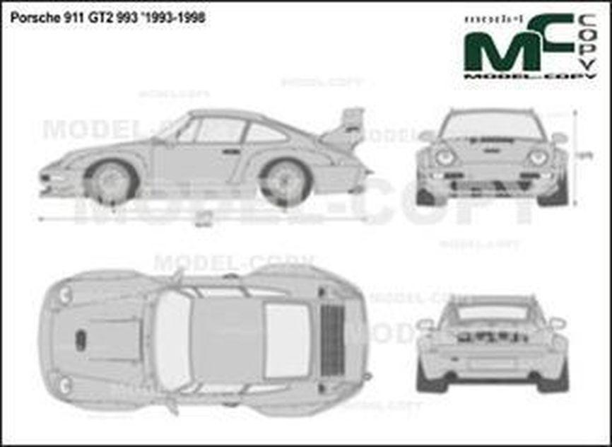 Porsche 911 GT2 993 '1993-1998 - 2D図面