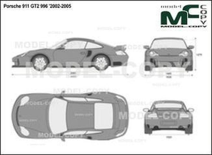 Porsche 911 GT2 996 '2002-2005 - 2D-чертеж