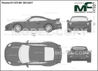 Porsche 911 GT3 991 '2013-2017 - 2D drawing (blueprints)