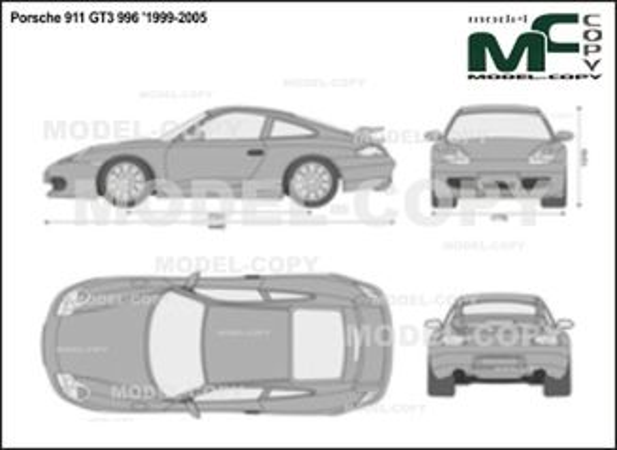 Porsche 911 GT3 996 '1999-2005 - 2D-чертеж