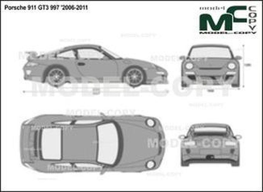 Porsche 911 GT3 997 '2006-2011 - 2D図面
