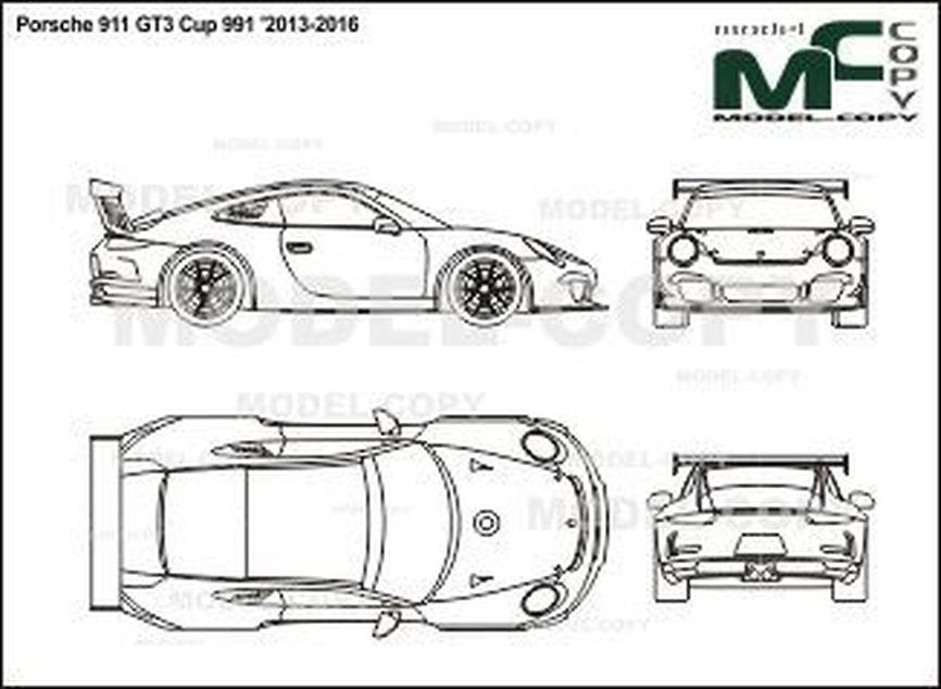 Porsche 911 GT3 Cup 991 '2013-2016 - 2D図面