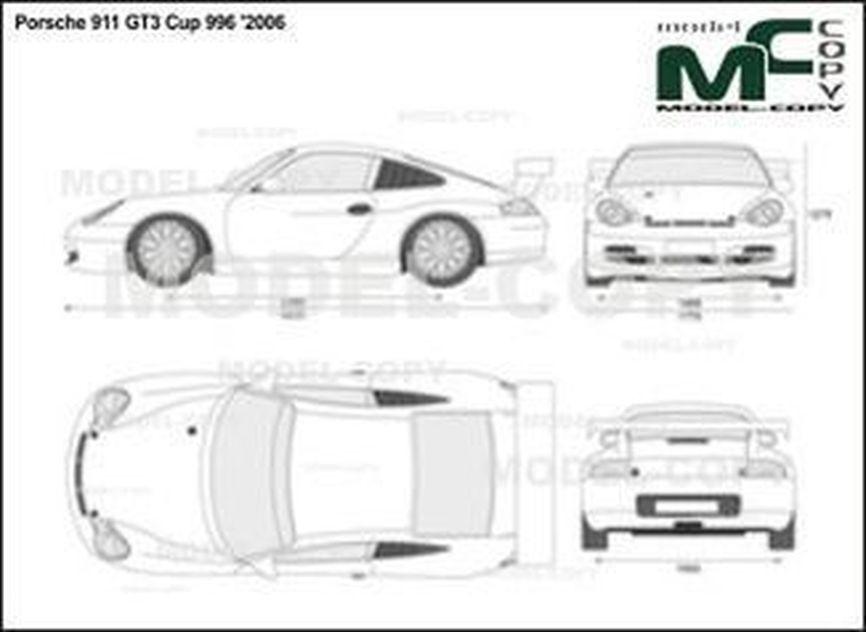 Porsche 911 GT3 Cup 996 '2006 - 2D図面