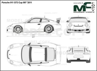 Porsche 911 GT3 Cup 997 '2011 - 2D drawing (blueprints)