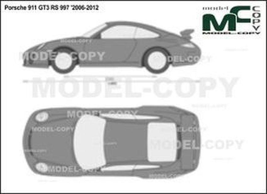Porsche 911 GT3 RS 997 '2006-2012 - 2D drawing (blueprints)