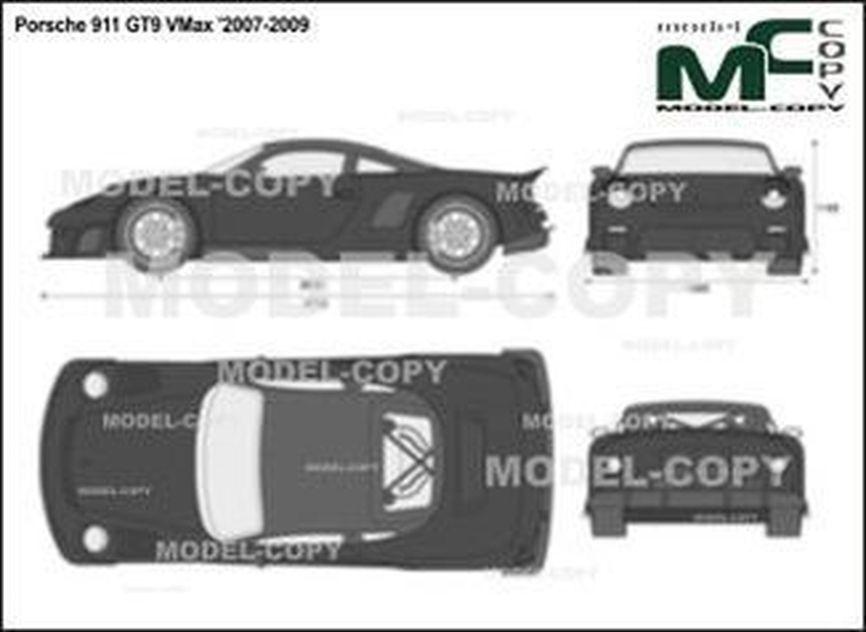 Porsche 911 GT9 VMax '2007-2009 - 2D drawing (blueprints)