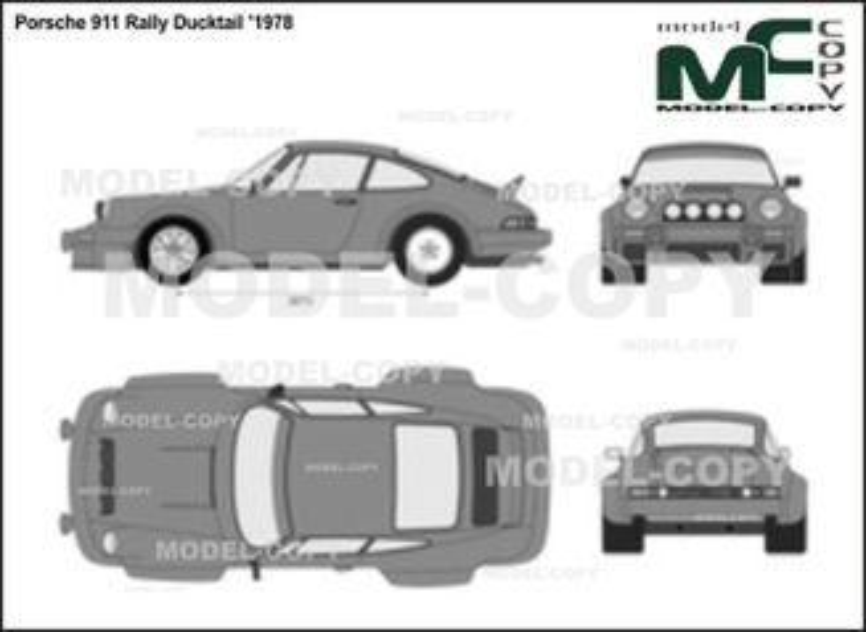 Porsche 911 Rally Ducktail '1978 - 2D drawing (blueprints)