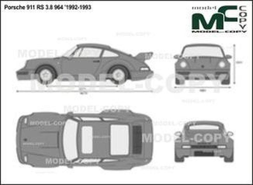 Porsche 911 RS 3.8 964 '1992-1993 - 2D図面