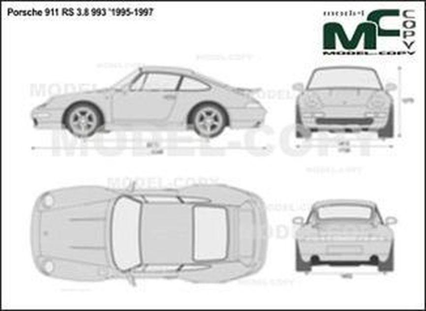 Porsche 911 RS 3.8 993 '1995-1997 - 2D図面