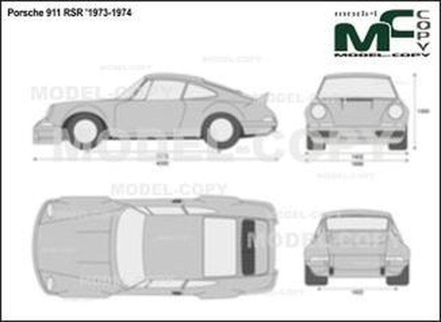 Porsche 911 RSR '1973-1974 - 2D drawing (blueprints)
