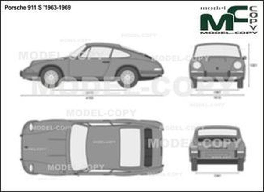 Porsche 911 S '1963-1969 - 2D drawing (blueprints)