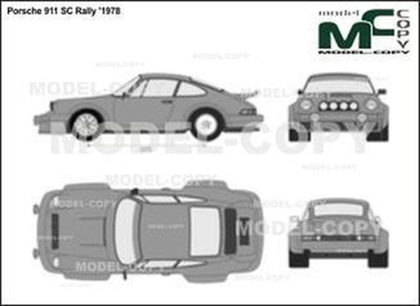 Porsche 911 SC Rally '1978 - 2D-чертеж