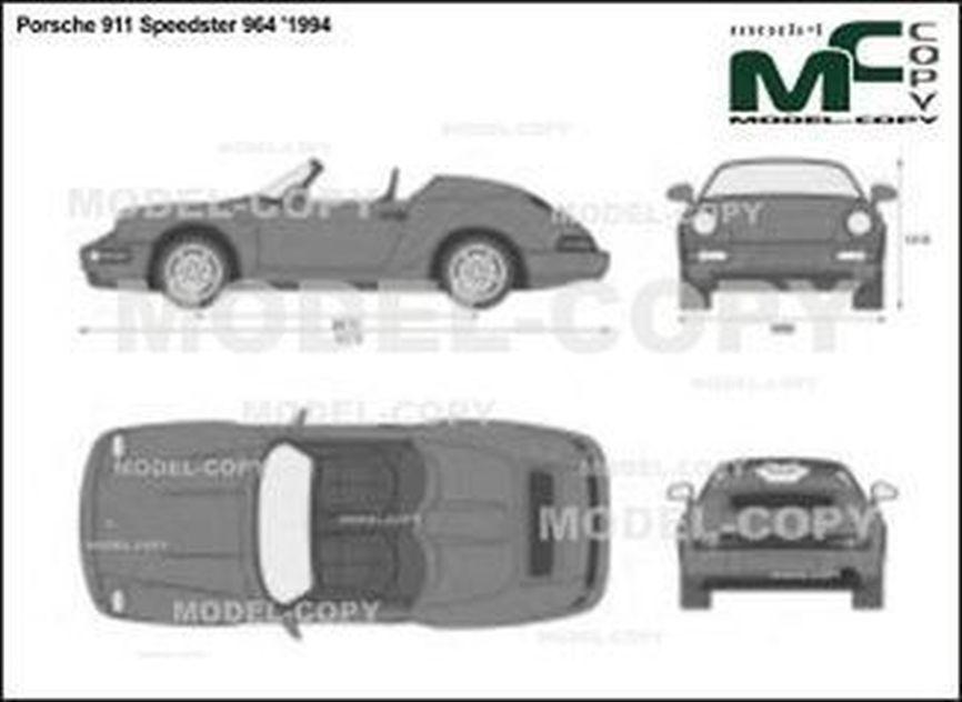 Porsche 911 Speedster 964 '1994 - 2D drawing (blueprints)