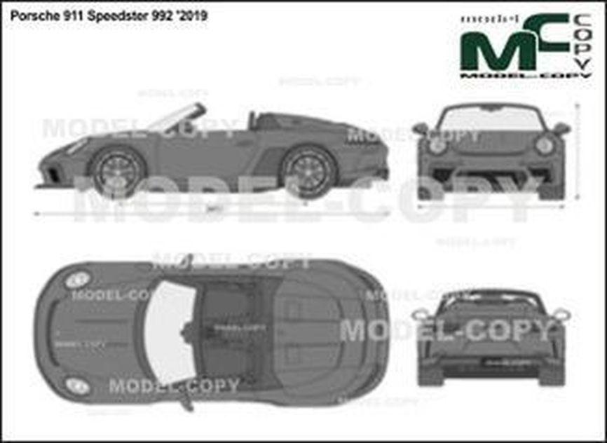 Porsche 911 Speedster 992 '2019 - 2D drawing (blueprints)