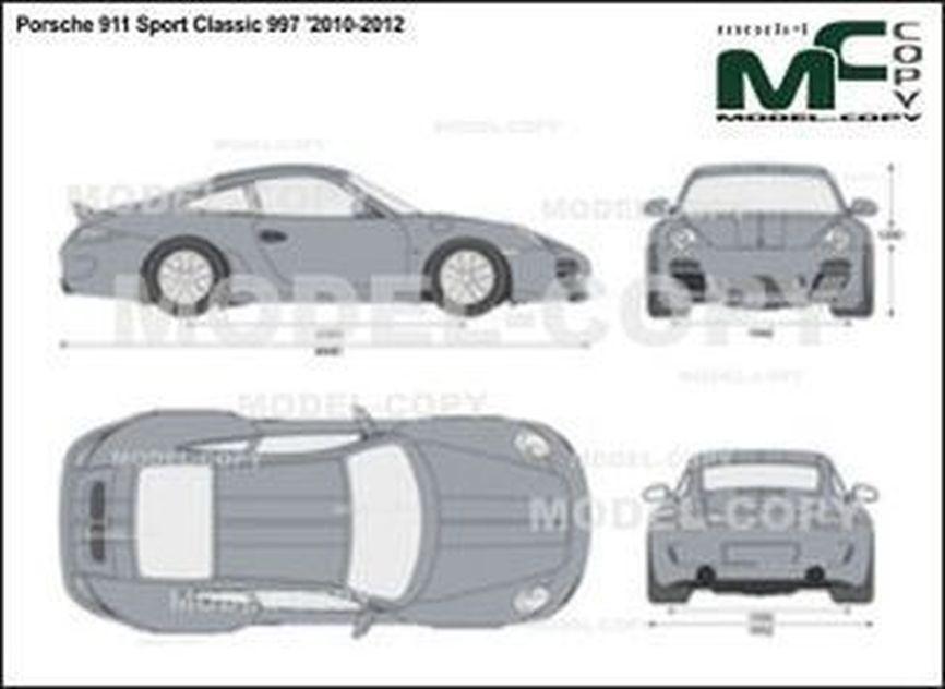 Porsche 911 Sport Classic 997 '2010-2012 - 2D drawing (blueprints)
