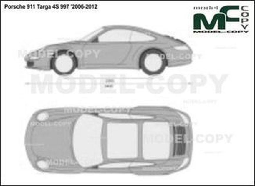 Porsche 911 Targa 4S 997 '2006-2012 - 2D-чертеж
