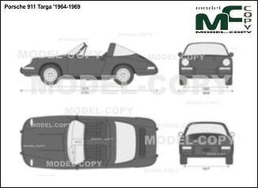 Porsche 911 Targa '1964-1969 - 2D drawing (blueprints)