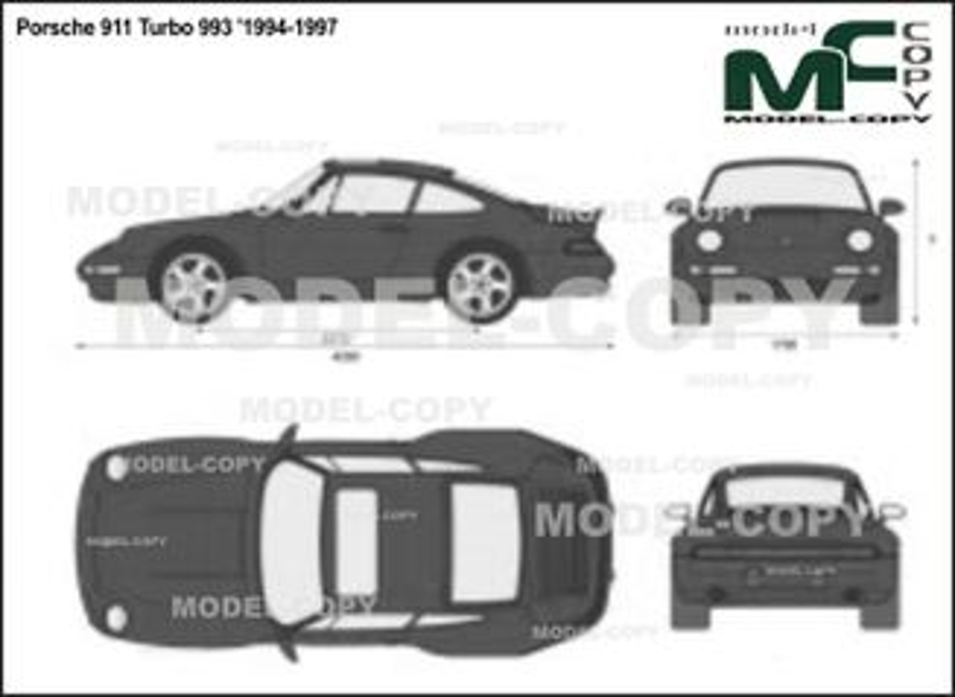 Porsche 911 Turbo 993 '1994-1997 - 2D drawing (blueprints)