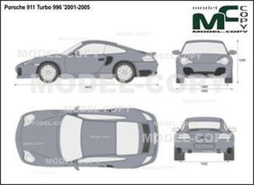 Porsche 911 Turbo 996 '2001-2005 - 2D drawing (blueprints)