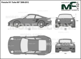 Porsche 911 Turbo 997 '2006-2012 - 2D drawing (blueprints)