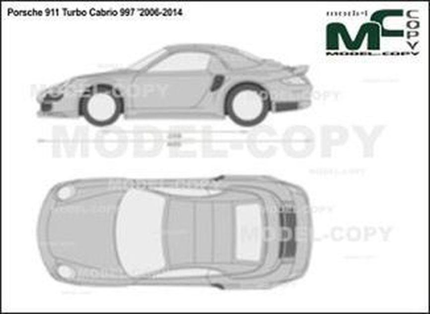 Porsche 911 Turbo Cabrio 997 '2006-2014 - 2D drawing (blueprints)