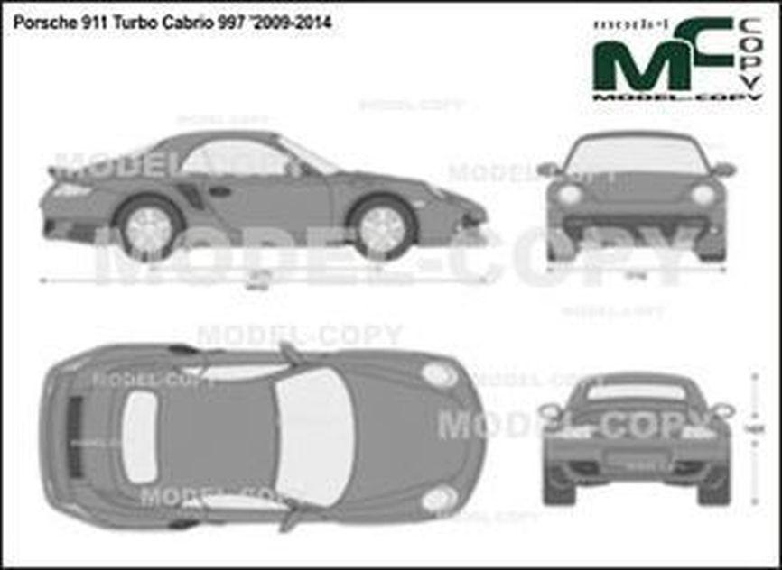 Porsche 911 Turbo Cabrio 997 '2009-2014 - 2D drawing (blueprints)
