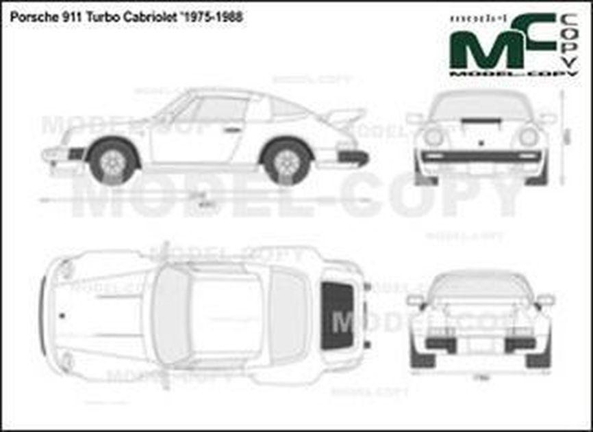 Porsche 911 Turbo Cabriolet '1975-1988 - 2D図面
