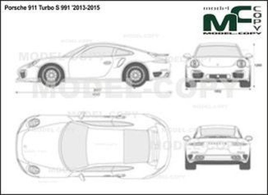 Porsche 911 Turbo S 991 '2013-2015 - 2D図面