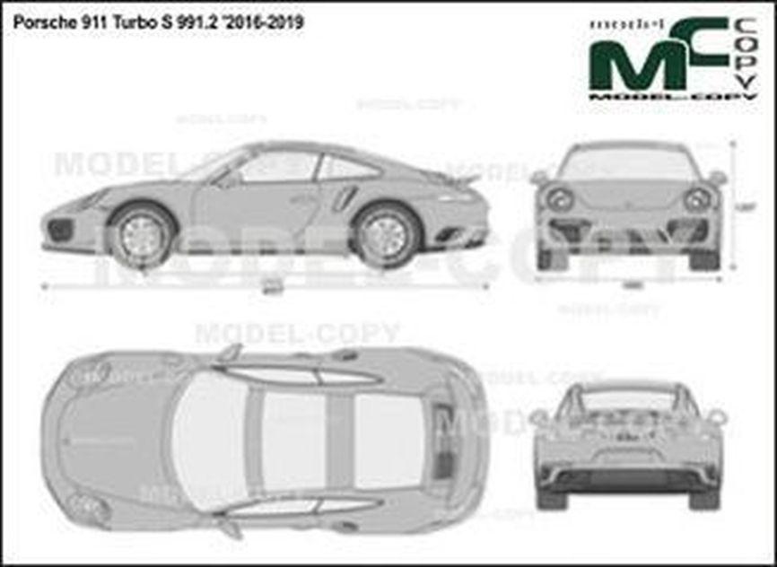 Porsche 911 Turbo S 991.2 '2016-2019 - 2D図面