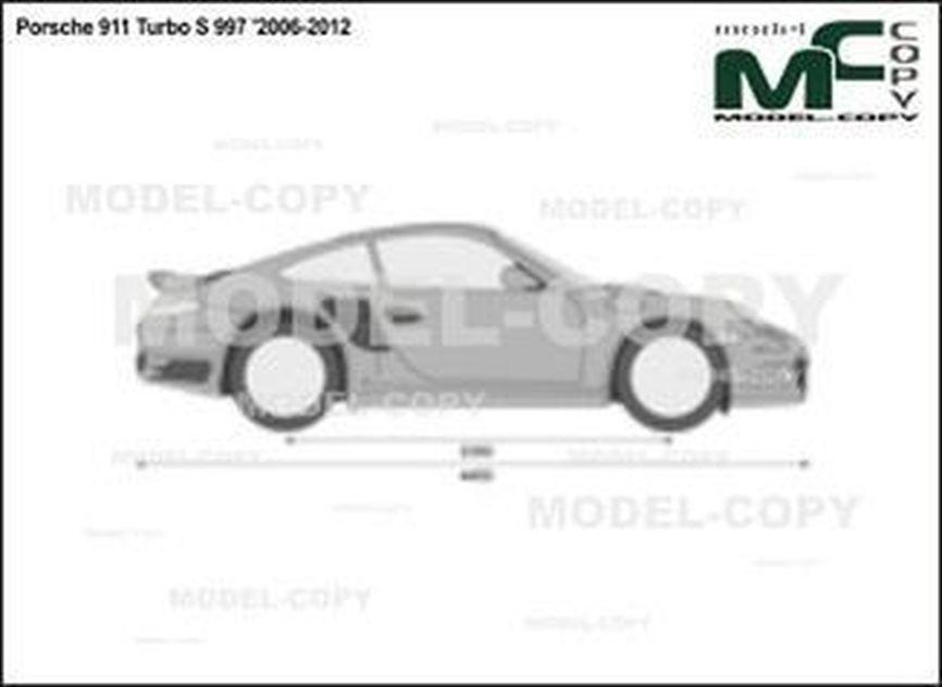 Porsche 911 Turbo S 997 '2006-2012 - 2D drawing (blueprints)