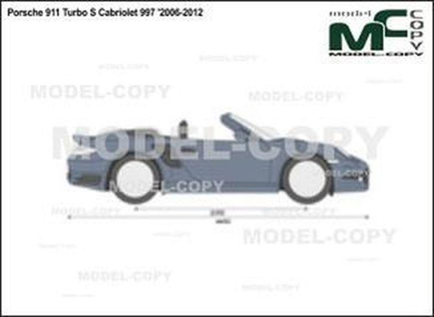 Porsche 911 Turbo S Cabriolet 997 '2006-2012 - 2D drawing (blueprints)