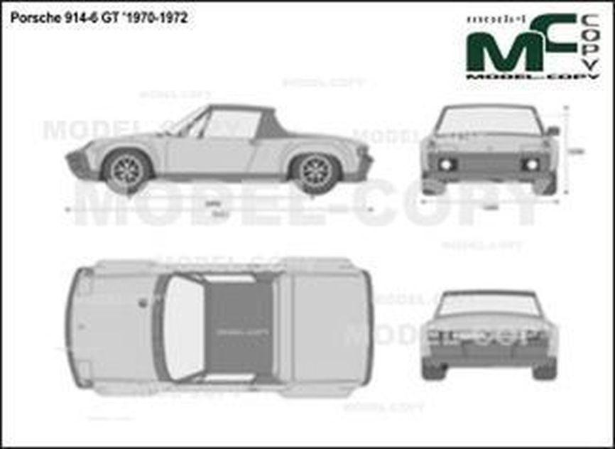 Porsche 914-6 GT '1970-1972 - 2D drawing (blueprints)