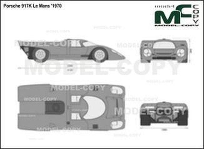 Porsche 917K Le Mans '1970 - 2D drawing (blueprints)