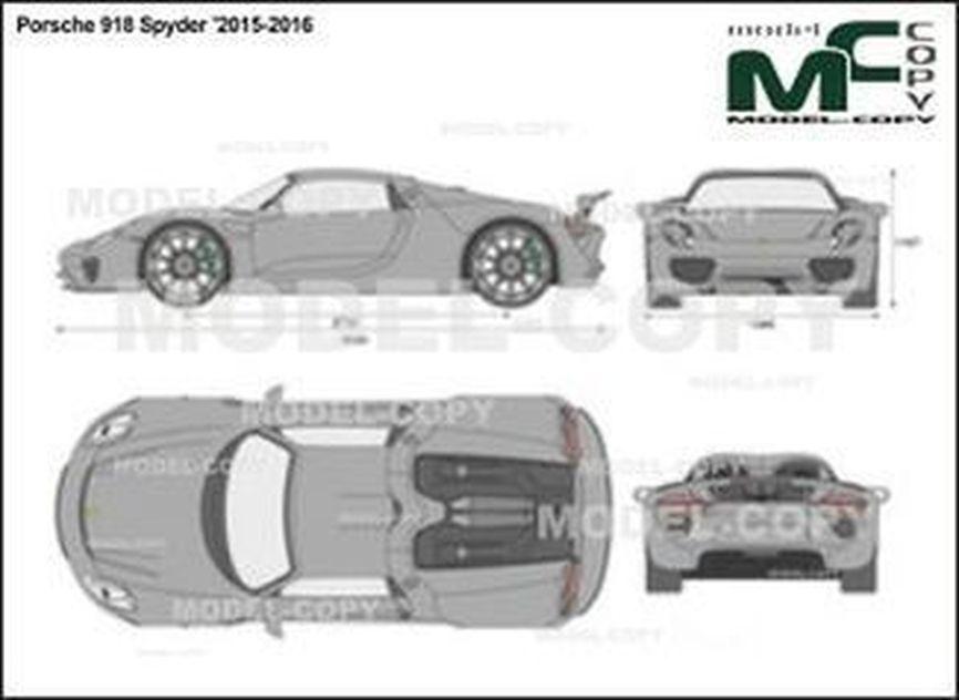 Porsche 918 Spyder '2015-2016 - 2D drawing (blueprints)
