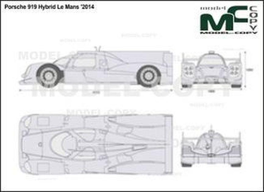 Porsche 919 Hybrid Le Mans '2014 - 2D drawing (blueprints)