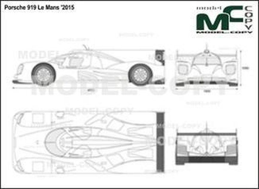 Porsche 919 Le Mans '2015 - 2D図面
