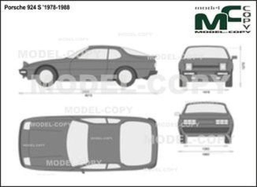 Porsche 924 S '1978-1988 - 2D drawing (blueprints)