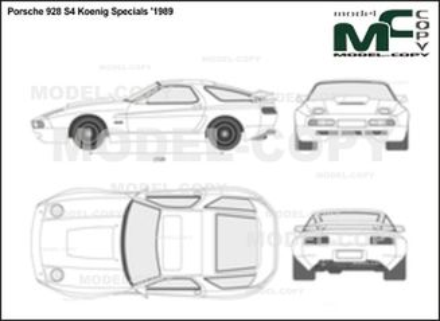 Porsche 928 S4 Koenig Specials '1989 - 2D-чертеж