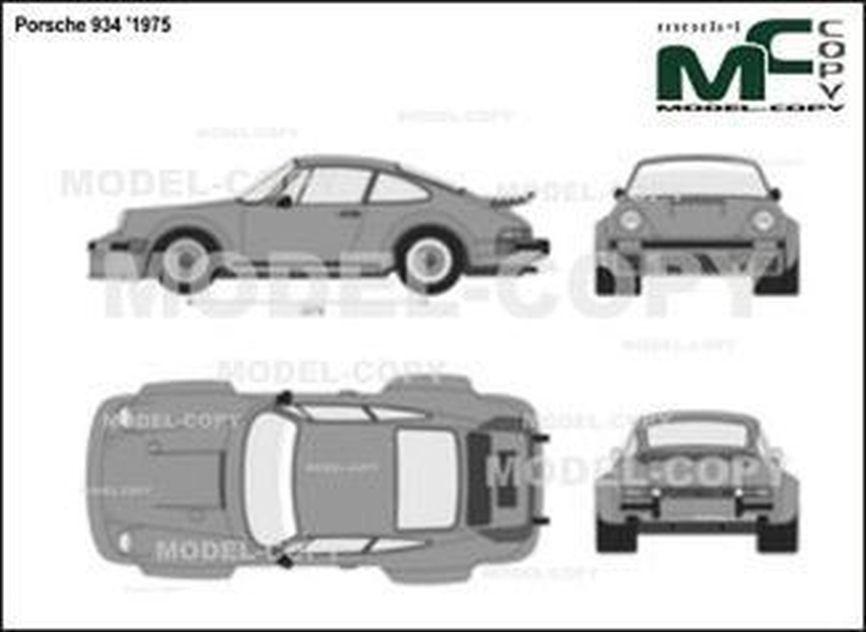 Porsche 934 '1975 - 2D図面